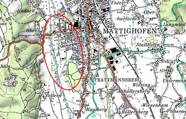 Mattig - HWS Mooswiese - Karte