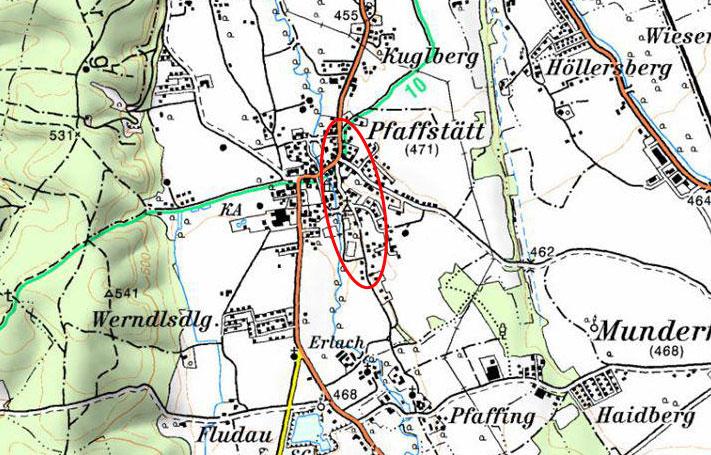 Mattig - HWS Pfaffstätt - Karte