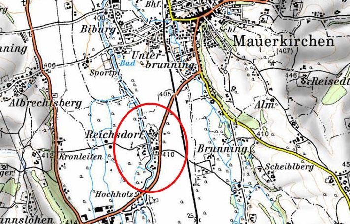 Hochwasserschutz Mauerkirchen Reichsdorf - Karte