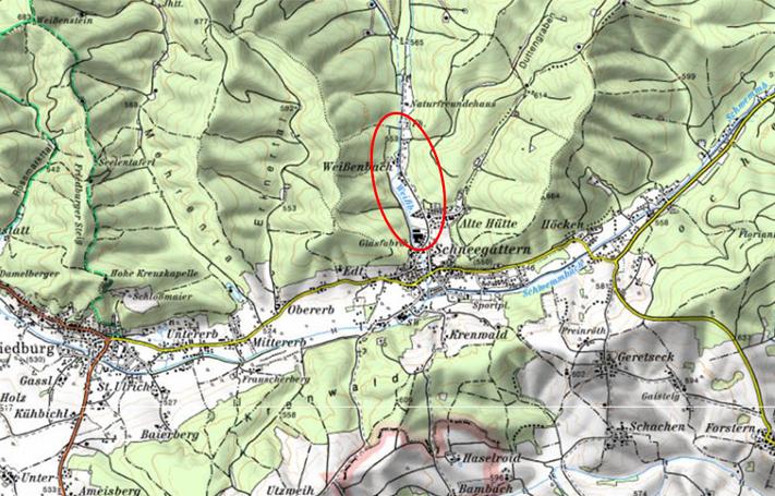 Karte Hochwasserschutz Weissenbach