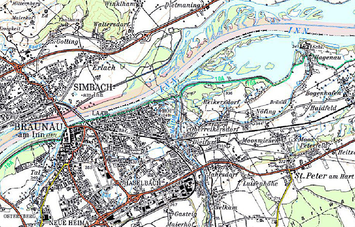 Karte Renaturierung Mattig Mündungsstrecke