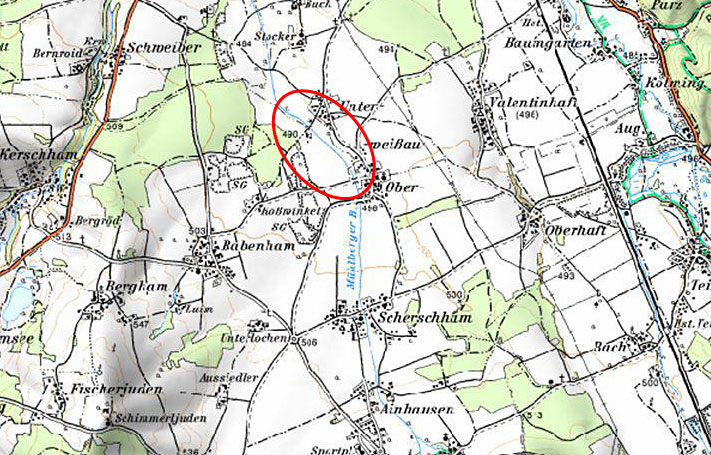 RHB Mühlbergerbach - Karte