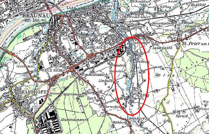 Karte Sanierung der unteren Mattig