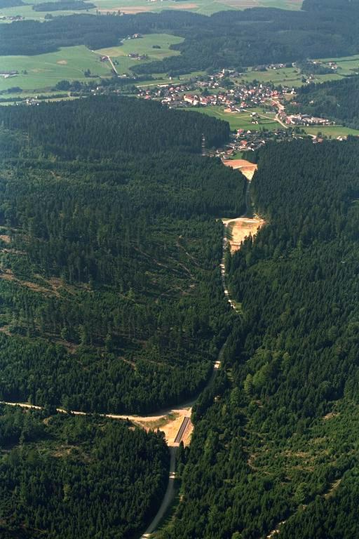 Rückhaltebecken Alte Hütte - Luftaufnahme