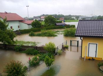 Mattig - Mooswiese - Hochwasser März 2013