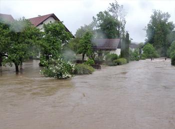 Mattig -  Hochwasser Juni 2013