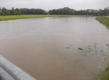 Mattig Hochwasser 2013 - Einbindemulde